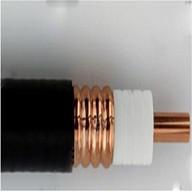 无线通信用50Ω铜包铝线内导体泡沫聚乙烯绝缘环形皱纹铜管外导体阻燃聚乙烯护套同轴射频电缆
