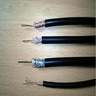 铜包铝内导体物理发泡聚乙烯绝缘螺旋形皱纹外导体聚乙烯护套超柔射频同轴电缆