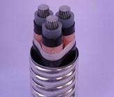 铝合金导体交联聚乙烯绝缘细圆钢丝铠装聚氯乙烯护套电力电缆