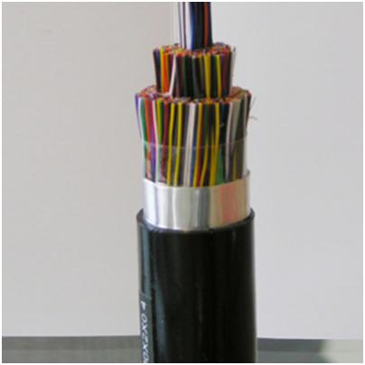 最高频率为30MHz、适于宽带应用的铜芯泡沫实心皮聚烯烃绝缘铝塑粘结型综合护套自承式市内通信电缆