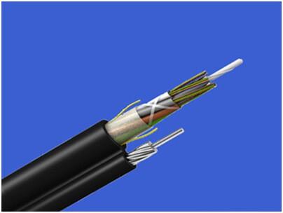 金属加强构件、光纤带松套层绞(半)干式、聚乙烯护套、纵包皱纹钢带铠装、阻燃聚乙烯套通信用室外光缆