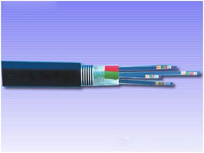 金属加强构件、光纤带松套层绞填充式、钢-聚乙烯粘结护套、单粗圆钢丝铠装、聚乙烯套通信用室外光缆
