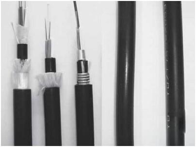 金属元构件、松套光纤、聚乙烯护套室内外光缆GJYY