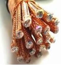 铜芯氟塑料绝缘硅橡胶护套铜丝编织屏蔽对绞铜丝编织总屏计算机电缆