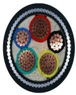 铜芯聚氯乙烯绝缘细圆钢丝铠装聚氯乙烯护套电力电缆