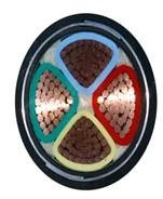 铜芯聚氯乙烯绝缘细圆钢丝铠装聚乙烯护套电力电缆