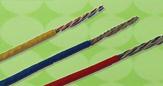 泡沫聚烯烃绝缘聚氯乙烯护套最高传输频率100MHz数字通信用水平对绞电缆