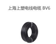 上海上塑电线电缆 BV6平方国标单股铜芯家用电线 单芯硬线 100米