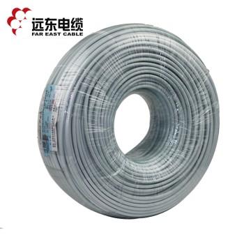 远东电缆BVVB3*4平方国标家装空调热水器用3芯硬护套铜芯电线 白色 100米