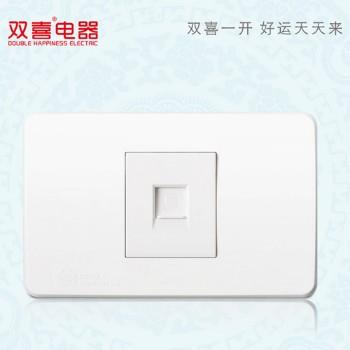 双喜墙壁插座 面板 118-清韵-烟雨系列 电脑插座