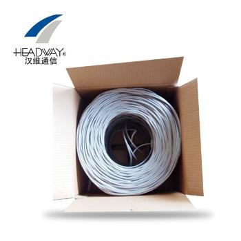 浙江汉维通信(HSYV-STP-5e)双屏蔽超五类双绞网线 4对8芯无氧铜305米
