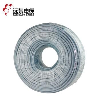 远东电缆 RVV3*4平方国标电源信号传输用3芯铜芯软护套线 白色 100米