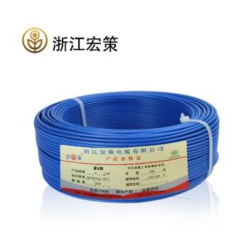 浙江宏策电缆BVR4平方国标铜芯线100米