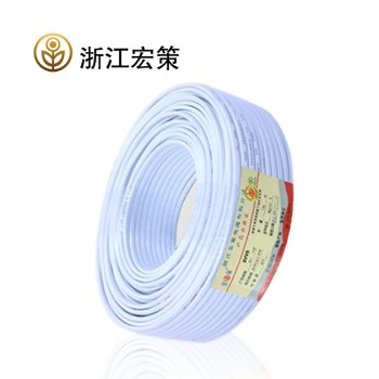 浙江宏策电缆BVVB2*1平方国标铜芯线100米
