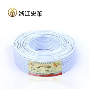 浙江宏策电缆BVVB2*4平方国标铜芯线100米