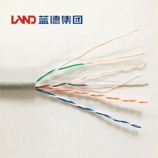 鑫晶光电缆蓝德牌 超五类非屏蔽数字通信用实心聚烯烃绝缘水平对绞电缆