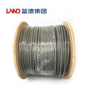 鑫晶光电缆蓝德牌 六类屏蔽数字通信用实心聚烯烃绝缘水平对绞电缆