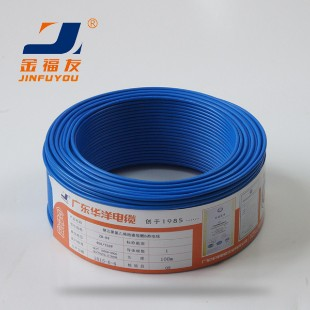 广东华洋电缆ZR-BV2.5平方国标铜芯电线100米