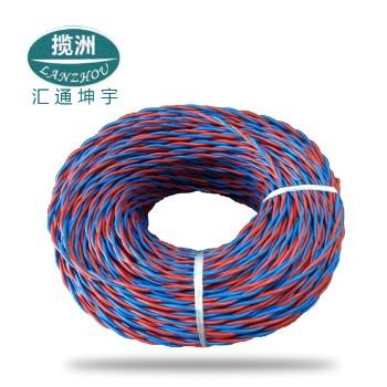汇通坤宇电线电缆RVS2×0.75平方国标铜芯电线100米