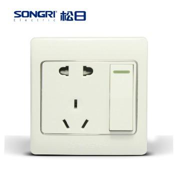 【松日】 插座 S2008系列 一开双控带 五孔插座