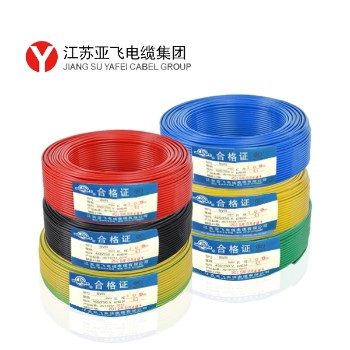亚飞电线电缆BVR10平方国标铜芯线100米