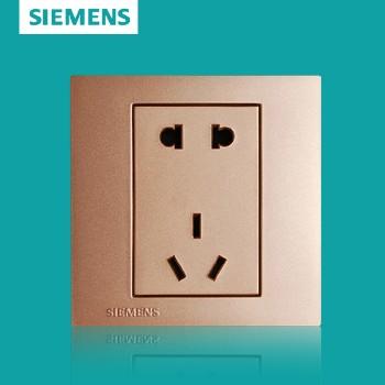 西门子开关插座面板 灵致金系列 五孔插座 10A