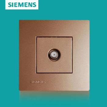 西门子开关插座面板 灵致金系列 宽频电视插座