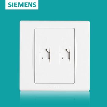 西门子开关插座面板 品宜系列 双电脑插座
