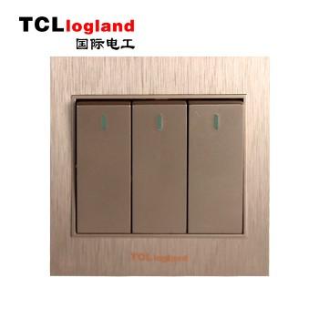 罗格朗(TCL logland) 开关 A3系列 土豪金86型三位单控(带荧光)