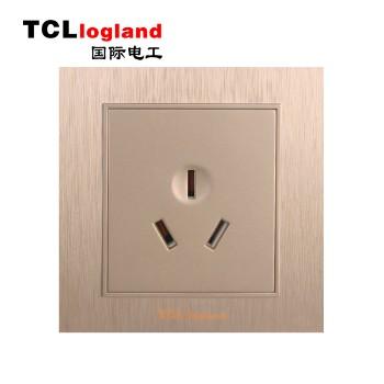 罗格朗(TCL logland) 插座 面板A3系列 土豪金16A三级插座