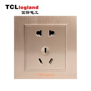 罗格朗(TCL logland) 插座 面板A3系列 土豪金 二三级插座 五孔插座