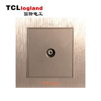 罗格朗(TCL logland) 插座 面板A3系列 土豪金 一位电视插座