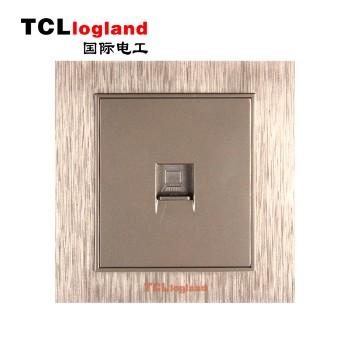 罗格朗(TCL logland) 插座 面板A3系列 土豪金 一位电脑插座