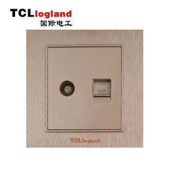 罗格朗(TCL logland) 插座 面板A3系列 土豪金 电视电脑插座