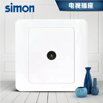 西蒙正品插座 面板C3系列 雅白色 一位电视插座