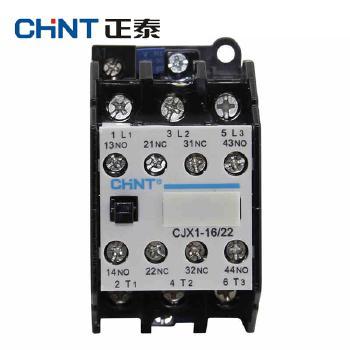 正泰交流接触器 CJX1-16/22 线圈电压(控制电压)  AC24V、36V、48V、220V、380V