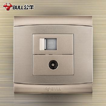 公牛插座 G19系列 电脑电视插座 (香槟金)