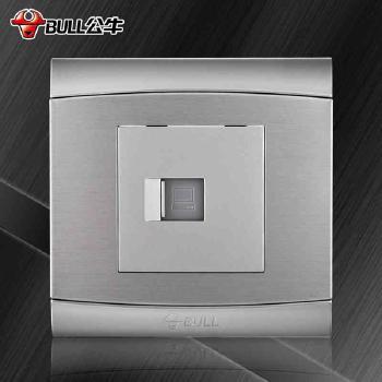 公牛插座 G19系列 电脑插座 (太空银)