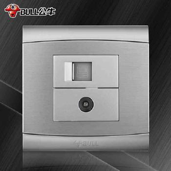 公牛插座 G19系列 电脑电视插座 (太空银)