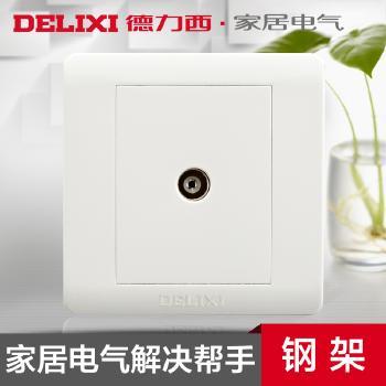 【超强信号】 插座 德力西开关插座 墙壁开关面板电视插座 有线电视插座