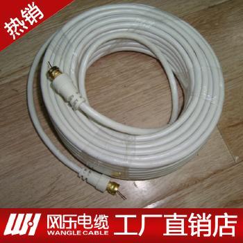 浙江网乐电视连接线国内射频电缆0.8无氧铜96网双屏蔽100米射频线