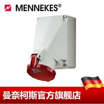 曼奈柯斯 明装插座  壁装式插座 货号 1141A  63A-6h/400V~3P+E IP44 带 SoftCONTACT 软接触工艺的壁装式插座