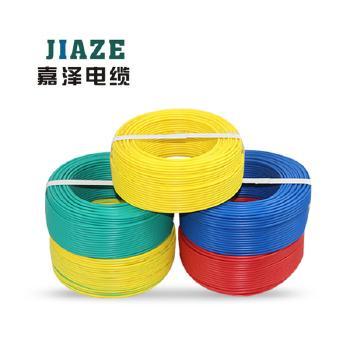 上海嘉泽线缆BVR6平方国标铜芯电线100米