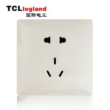 罗格朗(TCL logland) 工程款V4系列 86型 五孔插座