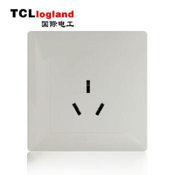 罗格朗(TCL logland) 工程款V4系列 86型 三孔插座