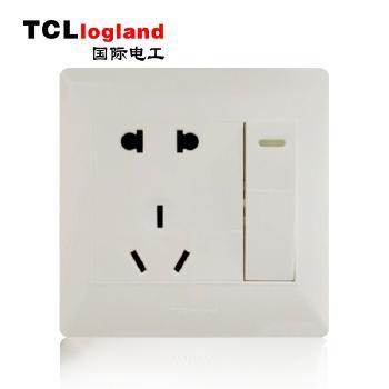 罗格朗(TCL logland) 工程款V4系列 86型 一开带五孔开关