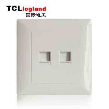 罗格朗(TCL logland) 工程款V4系列 86型 双电脑插座