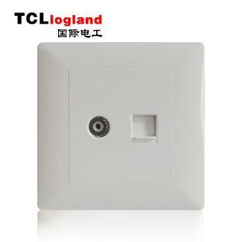 罗格朗(TCL logland) 工程款V4系列 86型 电脑电视插座