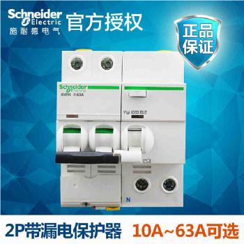 施耐德 IC65N系列 小型带漏保断路器 2P带漏保