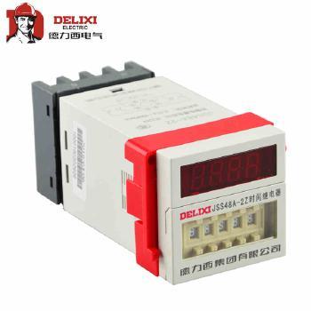 德力西  时间继<span style='color:red;'>电器</span>  JSS48A-11-43Y,DC24V